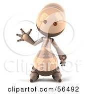 3d Robie Robot Character Waving by Julos