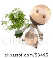 3d Robie Robot Character Holding A Plant Version 4 by Julos
