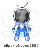 Royalty Free RF Clipart Illustration Of A 3d Tele Robot Character Standing And Facing Front Version 3 by Julos