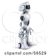 3d Techno Robot Character Standing And Facing Right by Julos