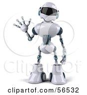 3d Techno Robot Character Waving Version 1 by Julos