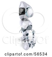 3d Techno Robot Character Facing Left by Julos