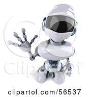 3d Techno Robot Character Waving Version 3 by Julos