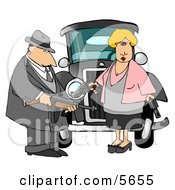 Notorious Outlaws Know As Bonnie Parker And Clyde Barrow Clipart Illustration by Dennis Cox