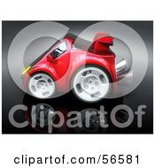 Royalty Free RF Clipart Illustration Of A 3d Red Compact Sports Car Version 5