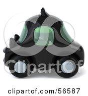 3d Black Taxi Cab Character Car - Version 2