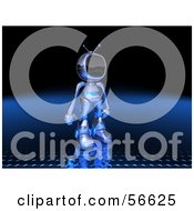 Royalty Free RF Clipart Illustration Of A 3d Tele Robot Character Standing And Facing Right Version 2 by Julos