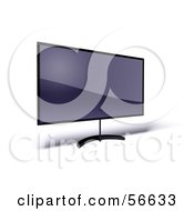 Royalty Free RF Clipart Illustration Of A 3d Slim Flat Panel Plasma Television On A Raised Mount Version 10