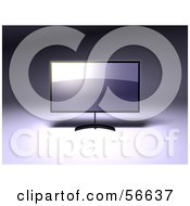 Royalty Free RF Clipart Illustration Of A 3d Slim Flat Panel Plasma Television On A Raised Mount Version 1