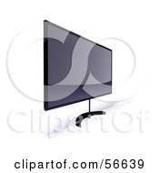 Royalty Free RF Clipart Illustration Of A 3d Slim Flat Panel Plasma Television On A Raised Mount Version 9