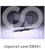 Royalty Free RF Clipart Illustration Of A 3d Slim Flat Panel Plasma Television On A Raised Mount Version 5