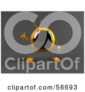 Royalty Free RF Clipart Illustration Of A 3d Yellow Square Tele Character Giving The Thumbs Up Version 2 by Julos