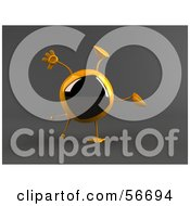 Royalty Free RF Clipart Illustration Of A 3d Yellow Square Tele Character Doing A Cartwheel Version 2 by Julos