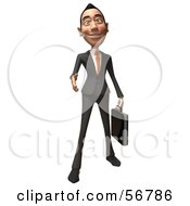 Royalty Free RF Clipart Illustration Of A 3d White Businessman Character Holding His Hand Out To Shake Version 1
