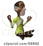 Royalty Free RF Clipart Illustration Of A 3d Casual Black Man Character Meditating Version 1 by Julos