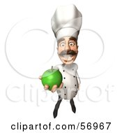 3d Chef Henry Character Eating A Green Apple Version 3 by Julos