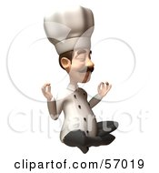 Royalty Free RF Clipart Illustration Of A 3d Chef Henry Character Meditating Version 1 by Julos