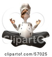 Royalty Free RF Clipart Illustration Of A 3d Chef Henry Character Meditating Version 4 by Julos