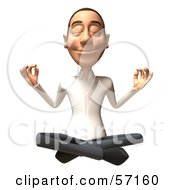 Royalty Free RF Clipart Illustration Of A 3d Casual White Man Character Meditating Version 1 by Julos