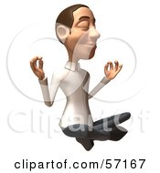 Royalty Free RF Clipart Illustration Of A 3d Casual White Man Character Meditating Version 2 by Julos