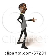 3d Black Businessman Character Pointing His Fingers Like A Gun Version 4 by Julos