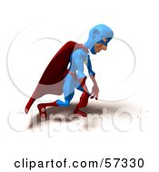 Royalty Free RF Clipart Illustration Of A 3d Male Star Superhero Character Slouching by Julos
