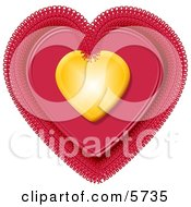 Valentine Heart Clipart Illustration by Dennis Cox
