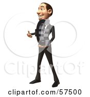 Royalty Free RF Clipart Illustration Of A 3d White Corporate Businessman Character Holding A Euro Symbol Version 3 by Julos