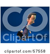 Royalty Free RF Clipart Illustration Of A 3d Short Businessman Character Pouting Version 1