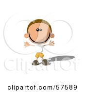 Royalty Free RF Clipart Illustration Of A Happy Little Boy Holding His Arms Out And Smiling by Julos