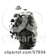 Royalty Free RF Clipart Illustration Of A 3d Womans Head With Floating Particles Version 8