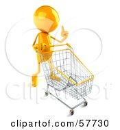 3d Yellow Bob Character Pushing A Shopping Cart - Version 1