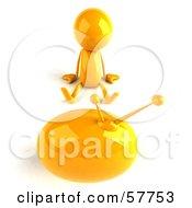3d Yellow Bob Character Watching Television - Version 3