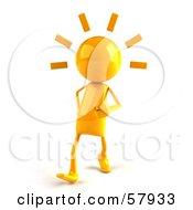 3d Yellow Bob Character Walking