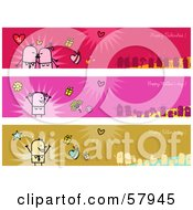 Digital Collage Of Valentine Mothers Day And Fathers Day Greeting Banners