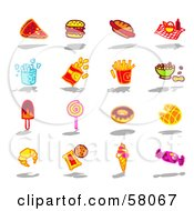 Royalty Free RF Clipart Illustration Of A Digital Collage Of Bad Foods by NL shop