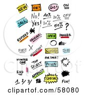Royalty Free RF Clipart Illustration Of A Digital Collage Of Retail Words by NL shop