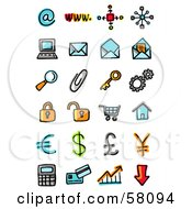 Royalty Free RF Clipart Illustration Of A Digital Collage Of Internet And Business Icons by NL shop
