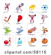 Royalty Free RF Clipart Illustration Of A Digital Collage Of Dance Fitness And Sports by NL shop