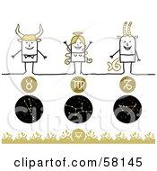 Stick People Taurus Virgo And Capricorn Zodiac Signs