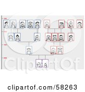 Royalty Free RF Clipart Illustration Of A Stick People Character Family Tree by NL shop