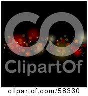 Royalty Free RF Clipart Illustration Of A Line Of Blurred Sparkling Lights Spanning A Black Background