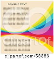 Rainbow Wave With Sample Text On A Pastel Background Version 2