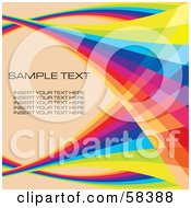 Rainbow Wave With Sample Text On A Pastel Background - Version 4