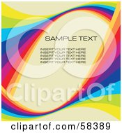 Royalty Free RF Clipart Illustration Of A Rainbow Wave With Sample Text On A Pastel Background Version 5 by MilsiArt