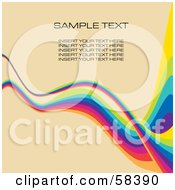 Rainbow Wave With Sample Text On A Pastel Background Version 6