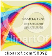 Rainbow Wave With Sample Text On A Pastel Background - Version 8