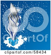 Royalty Free RF Clipart Illustration Of Silver Sparks Shooting Out Of An Open Blue Christmas Present