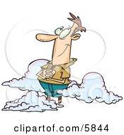 Caucasian Man Happy On Cloud 9