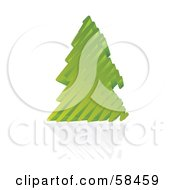 Royalty Free RF Clipart Illustration Of A Green 3d Scribble Christmas Tree With A Reflection by MilsiArt
